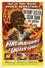 Vintage B Movie Poster Fire Maidens Of Outer Space Print Art A4 A3 A2 A1