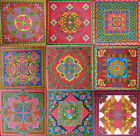 "RETRO PRINT 16"" 18"" 20"" CUSHION PATCHWORK QUILTING WALL HANGING FABRIC PANEL"
