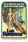 Vintage B Movie Poster Lady Frankenstein 01 Print Art Canvas A4 A3 A2 A1
