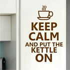 Keep calm and put the kettle on Kitchen Dining Room Wall Art Sticker Graphic