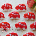Red Classic Car 25mm Plastic Buttons Sewing Scrapbooking Collectable CCB09