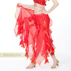 7 color Chiffon Gold Trim Lotus Leaf Long Skirt Swing Skirt Belly Dance Costumes