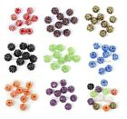 2mm/14mm/16mm Full of AB Rhinestones Crystal Acrylic Round Spacer Beads 10pcs