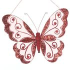 Large 26cm Clip On Or Hanging Butterflies - Glitter Diamante In Many Colours