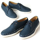 New Trend Mens Sneakers Navy Comfort Casual Lace Up Shoes
