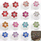 12/36pcs Crystal Flower Coils Twists Spirals Hairpin Fashion 11 Colors 0260BZ