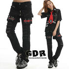 FreeShip X PUNK VISUAL KEI BLACK STUB SLIM ZIP UP 71214 BLACK PANTS S-XL