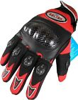 MotoX BMX RED CRF Pro Hard Knuckle Leather Motocross Motorbike Motorcycle Gloves