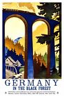 Germany Black Forest Vintage Poster VEP015 Art Print Canvas A4 A3 A2 A1