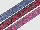 "1Yd  Floral Jacquard Trim 2"" wide Woven Border Sew Ribbon T269"