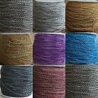 5/100 Meters Cable Open Link Aluminum Chain Jewelry Findings 1.0x6x4mm 8 Colors