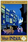 Countries Travel Poster India Moonlight CTP026 Art Print Canvas A4 A3 A2 A1