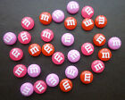 3D Nail Art Cute Chocolate M&Ms Kawaii Kitsch Decoden Cabochons 10 Pieces - NEW