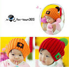 Autumn Winter Boys Toddlers New Born Girls Baby Child Kids Star Badge Wool Hat