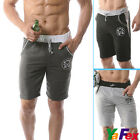 Rope Waist Sexy Men's Cotton Home Bermuda Shorts pants 4Size XS~S~M~L Sportswear