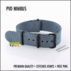 GREY G10 NATO MILITARY WATCH STRAP PVD HARDWARE