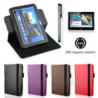 4 Accessory Bundle Kit for Samsung Galaxy note 10.1 Tablet 360 Rotary Case Cover