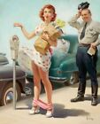 Vintage No Time To Lose 1951 Pin-Up Art Frahm PINUP033 Poster A4 A3 A2 A1