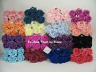 BULK BUY 60 ARTIFICIAL FOAM ROSES Mix n Match your colours  WEDDING FLOWERS ..