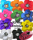 Krazy Daisy in Single Colour by Kitty Deluxe EMO Punk Goth Burlesque Rockabilly