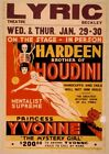 Vintage Hardeen Brother of Houdini Poster CIRCUS0221 Print A4 A3 A2 A1