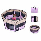 Fabric Pet Playpen Dog Cat Puppy Guinea Pig Rabbit Play Pen Run Pink New S M L