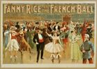 Vintage Fanny Rice at the French Ball CIRCUS0852 Art Print Canvas A4 A3 A2 A1
