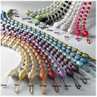 MODERN CRYSTAL BEADED CURTAIN ROPE TIE BACK/ TIEBACKS DECORATIVE HOLDBACK 75cm