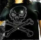 T Shirt Femme Hell Head  Tête de mort  Strass, Mode, Vintage, Fashion, Original