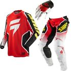 2013 Shift Racing Strike Pant Jersey Glove Black Green Red White Set  Motorcycle