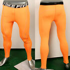 New Mens Skin Tight Winter Compression 184 Sports Pants Red Yellow