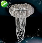 "MODERN CONTEMPORARY CRYSTAL CEILING LIGHTS Chandelier D 68cm/26.75"" L 75cm NEW"