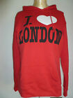 Ladies I Love London Red Hoodie Size Large (size 14-16 UK Size) Now Reduced!
