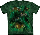 JUNGLE EYES - Cotton T-Shirt - The Mountain Classic Cotton Green Tie-Dye-10-3343