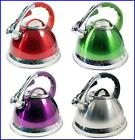 3.5L STAINLESS STEEL LIGHTWEIGHT WHISTLING KETTLE HOME TRAVEL CAMPING FISHING