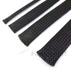 Black Braided Sleeve Sleeving Cable Harness Sheathing Expanding 3mm to 50mm
