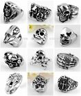 1pc Biker 3D 316L Stainless Steel Cool Finger Ring Mens Jewelry US11 Punk Goth