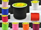 New 100Yards Nylon Cord Thread Chinese Knot Macrame Bracelets Braided Cord 1MM