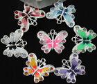 Free Ship Hot Beautiful 5/10pcs Enamel Animal Butterfly Pendant For Necklace