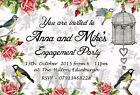 Personalised Engagement Party Invitations Vintage Birdcage Invites E16