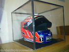 FULL SIZE RACING HELMET FORMULA 1 - MOTO GP - ANY ITEM GLASS DISPLAY CASE ONLY