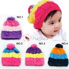 Baby Girl's Boy's Cute Rainbow Style Beanie Winter Hat Cap 4 Designs Available