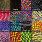 550 Paracord Type III 7 Strand Parachute cord 10 20 50 100 ft Bright New Colors!
