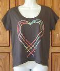 ~O'NEILL~ GRAY TRIPLE HEART GIRLS TEE T-SHIRT TOP NEW