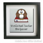 Personalised Framed Metal Wall Art Worlds Best Teacher Picture Gift Thank You