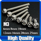 A2 M3 Stainless Steel Socket Cap Allen Key Bolts Screws Hex Head DIY Materials