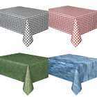 PLASTIC TABLECOVERS TABLECLOTHS RED BLACK GINGHAM GREEN GRASS PARTY TABLECOVER