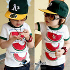 Baby Toddler Kids Boys Girls Short Sleeve T-Shirt Top Watermelon 1-9 years old