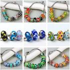 10pc Mixed Color Lampwork Glass European Loose Beads Fit For Bracelets Charm DIY