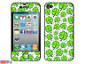 Oodles of Luck Irish Four Leaf Clover Skin Sticker Case for iPhone 4 4S Set of 2
